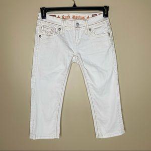 Rock Revival Alanis Capri Embellished Jeans